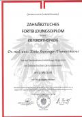 Kieferorthopädie Diplom